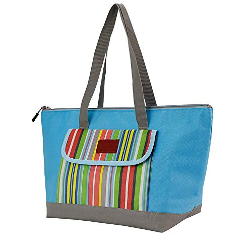 IF.HLMF Einkaufstasche, isoliert, wasserdichtes Futter und Reißverschluss, extra groß, strapazierfähig