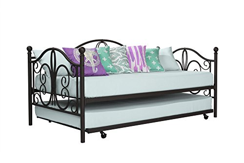 DHP Bombay Full Metal Daybed and Twin Size Trundle, Bronze