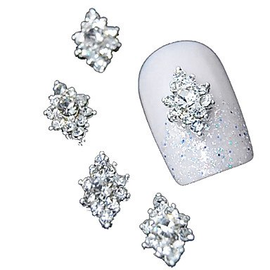 MZP 10pcs 3d strass clair fleur de diamant accessoires de bricolage alliage nail art décoration
