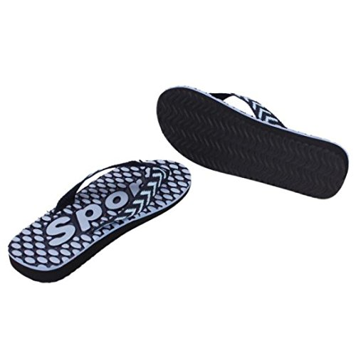 Transer® Herren Schuhe Thong Sandalen Sommer Schuhe Strand Flip Flop Hausschuhe Pantoffeln Schuhe Sandelholz-Strand Pantoffeln Dusch & Badeschuhe Zehentrenner Schwarz, Blau, Braun 40,41,42,43,44 (43,  Blau