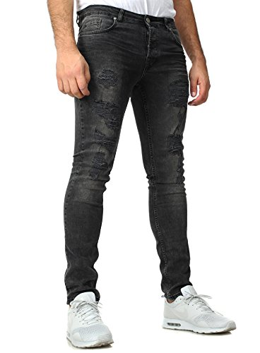 VSCT Clubwear Homme Jeans / Slim Keno Heavy Destroyed Anthracite