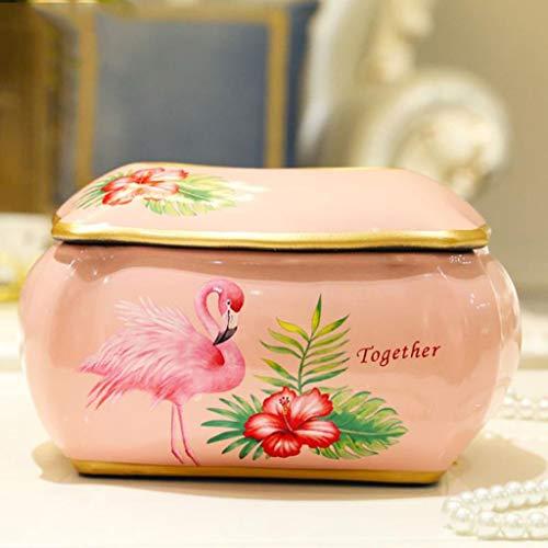HYBKY Tissue Box Tissue Box Cover, Keramik Tissue Box, Serviettenhalter, Elegante Und Stilvolle Dekoration, Pink Taschentuchhalter (Keramik Tissue Box Cover)