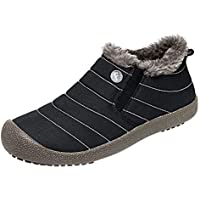 Zapatillas de Mujer de BaZhaHei, Modelos de mujer, además de terciopelo cálido, impermeable, zapatos de algodón antideslizantes botas botas de nieve las mujeres más el terciopelo a prueba agua Zapatos