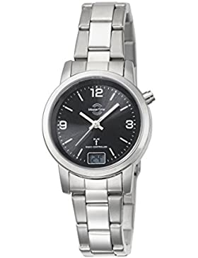 Master Time Funk Basic Series Damenuhr MTLA-10303-21M, Edelstahl Armbanduhr Silber