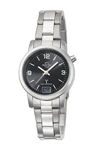 Master Time Funk Quarz Damen Uhr Analog mit digitalem Datum mit Edelstahl Armband MTLA-10303-21M