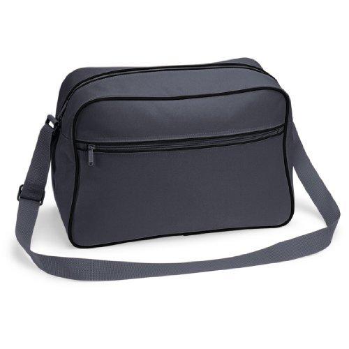 Shirtstown Retro Shoulder Bag, Umhängetasche, Schultertasche, Retro, Tasche graphitegreyblack