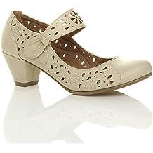 Femmes Talon Moyen Babies découper Chaussures Richelieu Escarpins Pointure 310de8dae520