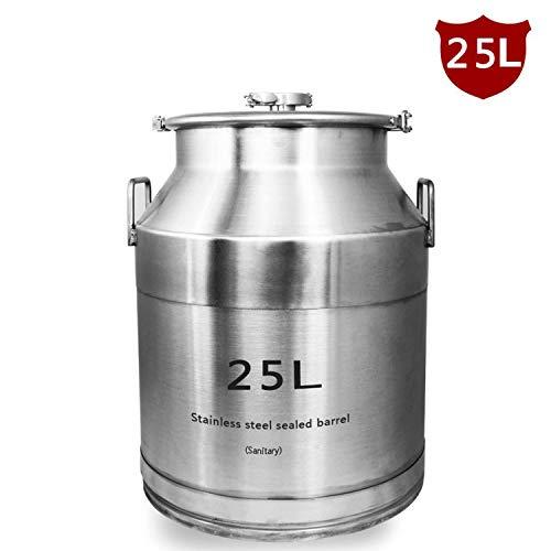 SIXINTAI 25L verdickte Edelstahl Wein fermentiert Wein Fass Wein Enzym versiegelt kann Wein Fass Lebensmittel Milch Lagerfass - Fermentierte Milch