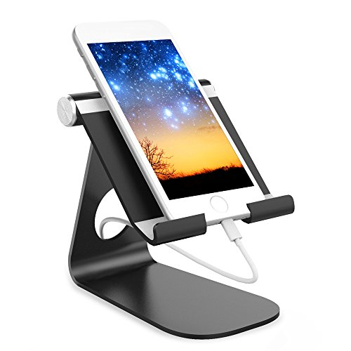 Wc-sicherheits-arm-unterstützung (thanly Universal Tablet Ständer Winkel drehbar Aluminium Desktop Tablet Handy Halter Wiege Unterstützung für iPad Pro Mini Air iPhone 76S 6Plus 5S Samsung S6S5S4S3HTC LG PC GPS)