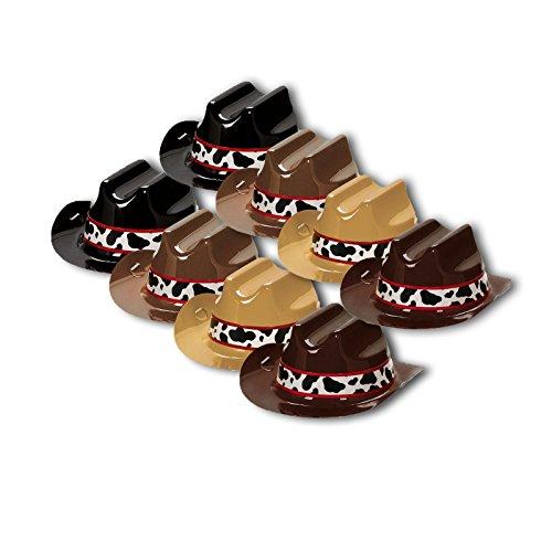 Amscan Mini-Hütchen Howdy Cowboys 8er Pack (Für Halloween-motto-bücher Erwachsene)
