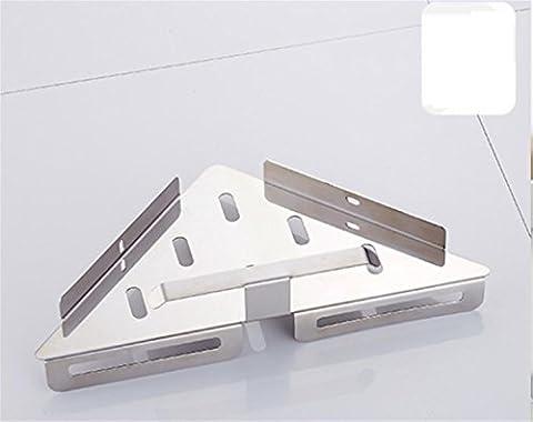 IamG_MM Porte-bagages sans trous Ensemble de clous panier panier triangulaire en acier inoxydable étagères de racks de salle de bain à trois pieds , a