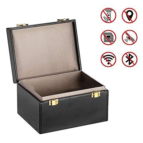 globalqi Faraday Box, Autoschlüssel Signal Blocker Box, Anruf & RFID Signal Blocker Fall Autoschlüssel Safe, Keyless Entry Autos Sicherheit Anti Diebstahl Große Aufbewahrungsbox