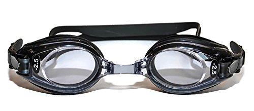 Hochwertige optische Schwimmbrille, Erwachsene, Schwarz, Plus-/Minus-Dioptrie, UV-T+ouml;nung