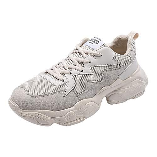 Xmiral Scarpe da Cantiere Donna Uomo Leggere Sneaker da Lavoro Antinfortunistiche Scarpe da Trekking per L'Estate all'aperto 42 Beige