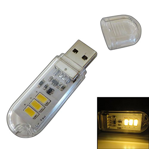 Mini USB-Stick Leuchte mit 3x LEDs 1,5 Watt 120lm - Taschenlampe Lampe USB