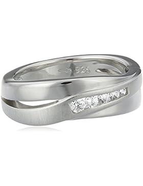 Fossil Damen-Ring 925 Sterling Silber Zirkonia weiß JF12766040