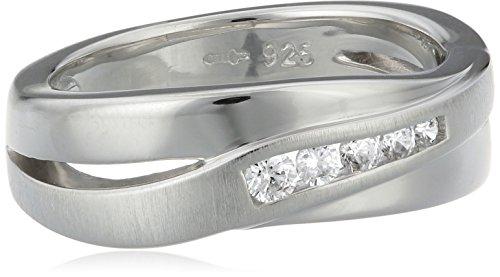 Fossil Damen-Ring 925 Sterling Silber Zirkonia weiß Gr.53 (16.9) JF12766040-6.5