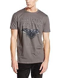 T-Shirt Game Of Thrones Gris Foncé All Men Must Die