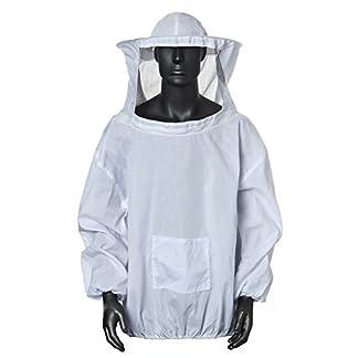 Bee Suit, OUTERDO Protective Beekeeping Veil Smock Beekeeper Suit Coat Jacket Equipment with Hat Bee Suit, OUTERDO Protective Beekeeping Veil Smock Beekeeper Suit Coat Jacket Equipment with Hat 41g553gNmGL