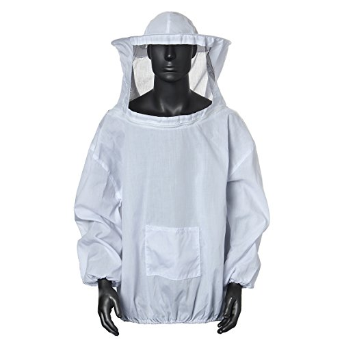 Bee Suit, OUTERDO Protective Beekeeping Veil Smock Beekeeper Suit Coat Jacket Equipment with Hat Test