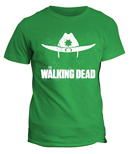 Tshirt Walking Dead Sheriff - zombie- in cotone by Fashwork Verde