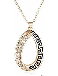 Glitz Womens Diva Fashion Alloy Gold Necklace For Girls Fashion Party Wear