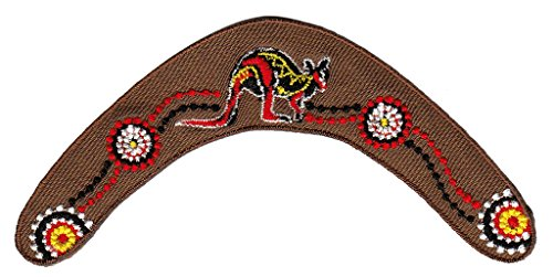 Australien Boomerang Aufnäher Bügelbild Patch Applikation