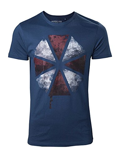 Resident Evil Distressed Umbrella T-Shirt dunkelblau Dunkelblau