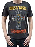 Amplified Damen T-Shirt Guns N Roses-Appetite for Destruction, Grau (Charcoal Cc), S