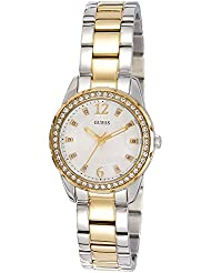 Guess Damen-Armbanduhr Analog Quarz Edelstahl W0445L4