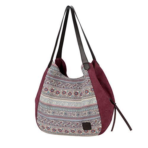 SCEMARK 2019 Damen Handtasche Frau Mode National Große Kapazität Canvas Handtasche Einzelne Umhängetaschen Taschen