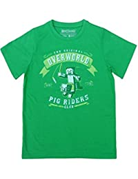 Minecraft Boys Overworld Pig Riders Club Short Sleeve T-Shirt Top Age 7 to 14 Years