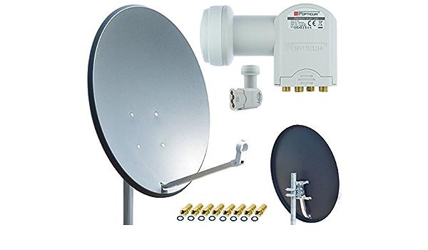 Opticum X80 Satelliten Antenne Quad Set Inkl 8x Elektronik