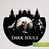 Gravinci.de Schallplatten-Wanduhr Dark Souls