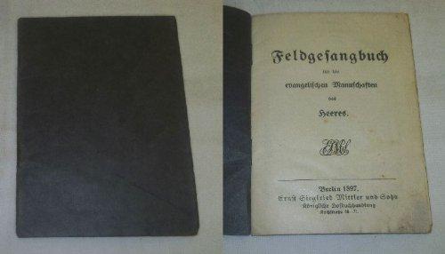 Bestell.Nr. 922259 Feldgesangbuch für die evangelischen Mannschaften des Heeres