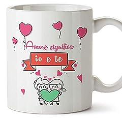 Idea Regalo - Mugffins Tazza San Valentino (Ti Amo) - Amore Significa io e Te... - Idee Regali Anniversario Originali per Lui/per Lei/Ragazzi/Fidanziati