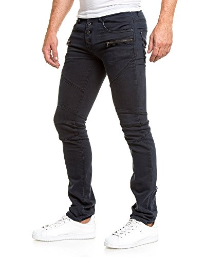 BLZ jeans - Jean dunkelblau zip Blau