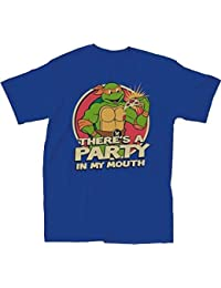 Teenage Mutant Ninja Turtles There's A Party Erwachsene Royal blau T-Shirt