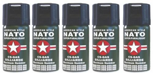 5-Stck-CS-GAS-NATO-Trnengas-40ml-Abwehrspray-CS-GAS