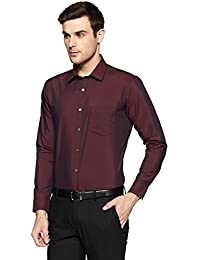 Amazon Brand - Symbol Men's Formal Fil a Fil Slim Fit Shirt