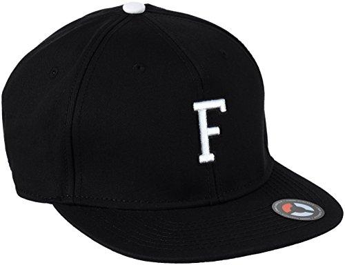 MSTRDS Unisex Baseball Cap Letter Snapback F, F Schwarz, Large - Jungen-baseball-tee