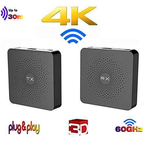 MEASY W2H 4K ricevitore del trasmettitore wireless 4K HDMI Extender 30M / 100FT supporta la trasmissione di video reali 4K fino a 4K @ 30HZ senza compressione