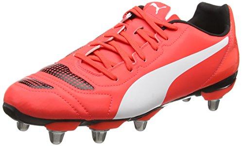 Puma Herren Evopower 4 2 Rugbyschuhe Rot (Red/Wht/Blk)