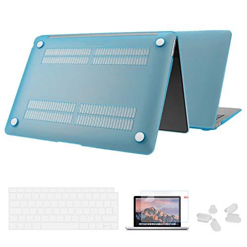 Utryit Hülle Für MacBook Air 13 (2018 Version) A1932 - Ultradünne Schutzhülle Hartschale Snap Case Laptop Durchscheinend Matt Cover für Apple MacBook Air 13,3