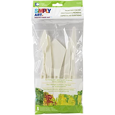 Loew-Cornell Simply Art Palette Painting Knives 5/Pkg-, Other, Multicoloured