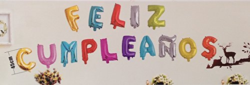 Globo mylar feliz cumpleaños con varios colores,15 pcs ,HC Enterprise c2