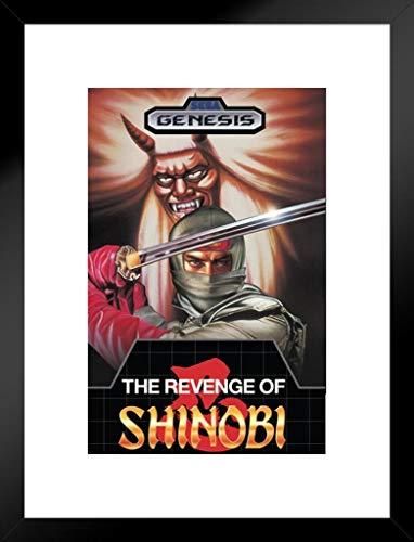 Pyramid America Revenge of Shinobi Sega Genesis Classic Videospiel, gerahmt, 50,8 x 66 cm