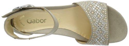 Gabor Shoes Gabor 85.523.12, Sandali Donna Grigio (Grau (leinen))