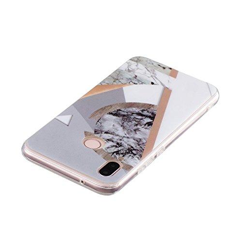Coque pour Huawei P20 Lite Marbre,Surakey Etui Housse Mince Silicone Transparent pour Huawei P20 Lite Coque de Protection en TPU avec Absorption de Choc Bumper et Anti-Scratch avec dessin Marbre Motif Etui de Protection Cas en caoutchouc en Ultra Mince Premium Semi Hybrid Crystal Clear Flex Soft Skin Extra Slim Téléphone Couverture TPU Case Coque Housse Étui pour Huawei P20 Lite (Marbre #7)