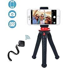 Fotopro Phone Stativ, Mini UFO Flexible Stativ mit Bluetooth Fernbedienung, Telefon Clip und Gopro Adapter, geeignet für Smartphone, Kamera, GoPro